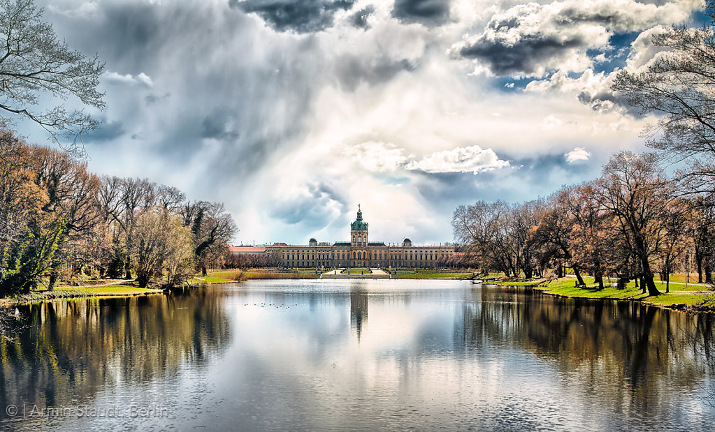 HDR shoot of the Schloss Charlottenburg, Berlin with lake