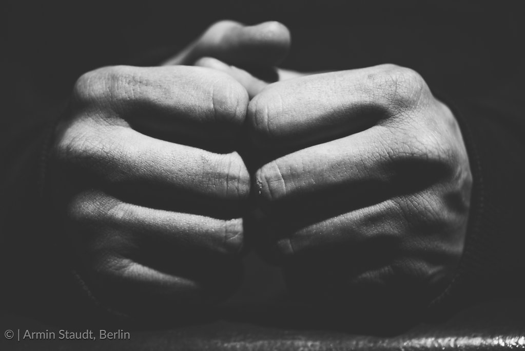 vintage black an white shot of two fists