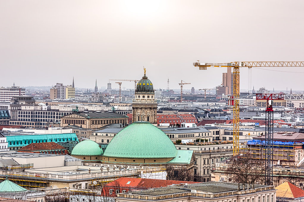 panorama of Berlin with French Dom
