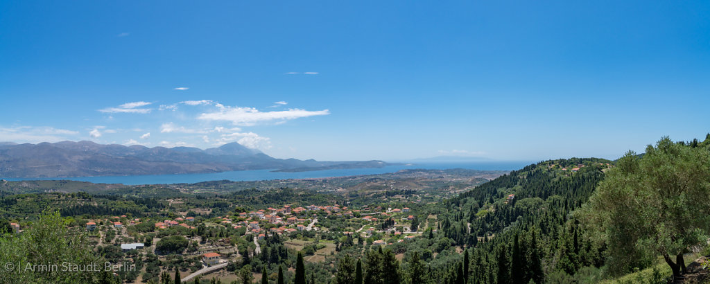 mediterranean panorama of Lixouri on Kefalonia Greece